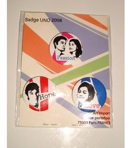 LOT DE 3 BADGES ESPOIR - PASSION  - AMOUR POP