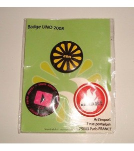 LOT DE 3 BADGES SOUND ADDICT - PLAY - SOUND