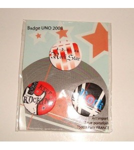 LOT DE 3 BADGES GARDE L'ESPRIT ROCK POP