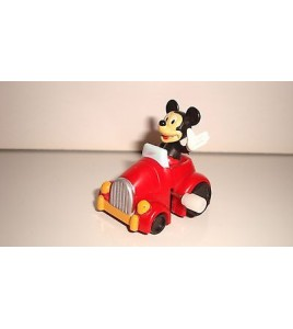 FIGURINE WIND UP WALT DISNEY MICKEY MOUSE AUTOMOBILE (4x3cm)