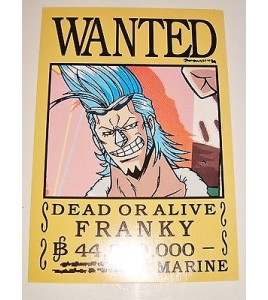 AFFICHE COLLECTOR ONE PIECE WANTED FRANKY N°2 (18x12,5cm)