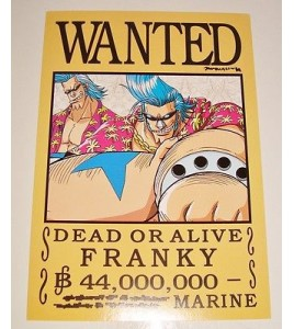 AFFICHE COLLECTOR ONE PIECE WANTED FRANKY N°3 (18x12,5cm)