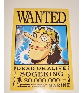 AFFICHE COLLECTOR ONE PIECE WANTED SOGEKING (18x12,5cm)
