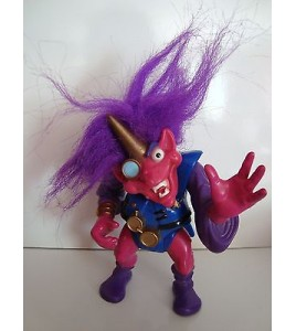 GRANDE FIGURINE TROLL CHEVEUX VIOLET ARTICULE TYCO 1992 (16x9cm)