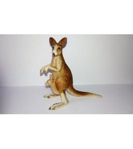 figurine animaux sauvage style schleich - kangourou avec son petit