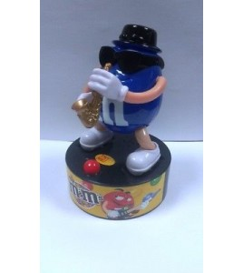 M&M's Rock Stars Blue Candy Dispenser Saxophone Player sonore