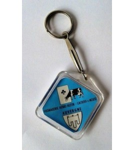 PORTE CLE KEYCHAIN VINTAGE - FROMAGERIE HENRI HUTIN AUVERGNE