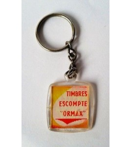 PORTE CLE KEYCHAIN VINTAGE - TIMBRES ESCOMPTE ORMAX