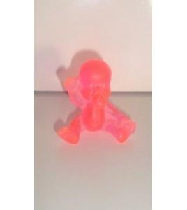 FIGURINE VINTAGE 80'S LES BABIES COLOR TRANSLUCIDE ROSE N°153 (4x4cm)