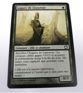 carte magic the gathering mtg - augure de llanowar - vision de l'avenir