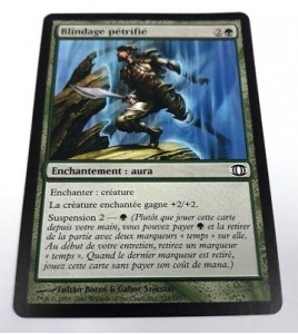 carte magic the gathering mtg - blindage pétrifié - vision de l'avenir