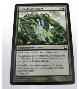 carte magic the gathering mtg - lent délabrement - vision de l'avenir - commune
