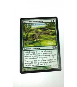 Carte MAGIC MTG - Crocodile en maraude - Lurking croco - Magic 2012 - VF - Occ