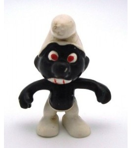 Schtroumpf 20007 Noir version Rare Dents Rouges (Smurf Puffi Pitufo Schlumpf)