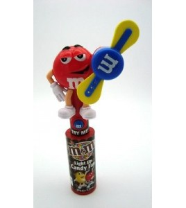 M&M's Sweet Holder red LIGHT UP Candy Fan Rare Collectable MMs n°2