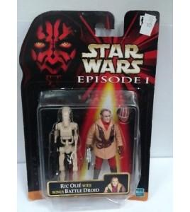 Star Wars Episode 1 1999 Ric Olié with battle droid neuf