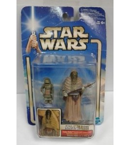 Star Wars Saga 2002 Tusken Raider Female avec Tusken Child 0208 ATOC MOC