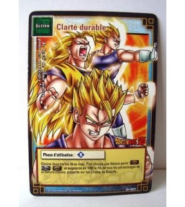 Carte Dragon Ball Z Clarté durable D-401
