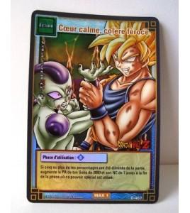 Carte Dragon ball Z Coeur calme, colère féroce D-467 Brillante  HOLO