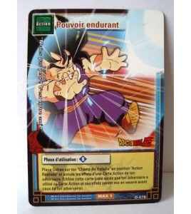 Carte Dragon ball Z Pouvoir endurant D-478