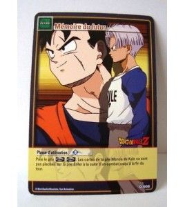 DRAGON BALL Z  CARTE MEMOIRE DU FUTUR D-608