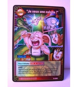 Dragon ball Z  Je veux une culotte  D-289 Brillante  HOLO