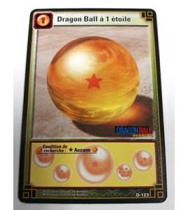 CARTE DRAGON BALL JCC VF D-123 Dragon ball à 1 étoile