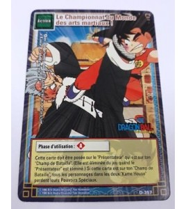 Carte Dragon Ball Z Le championnat du monde des arts martiaux ! D-357