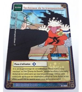 Carte Dragon Ball Z Technique de la transposition D-356