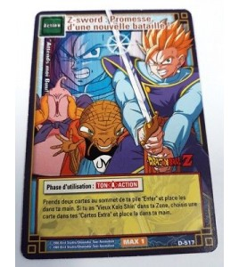 Z-Sword - D-517 - Carte Dragon Ball Z Série 5