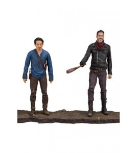 The Walking Dead TV Version pack 2 figurines Negan & Glenn 13 cm