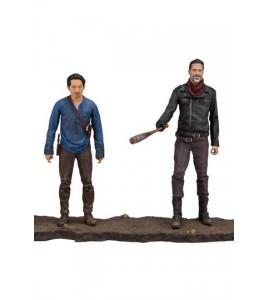 The Walking Dead TV Version pack 2 figurines Negan & Glenn 13 cm