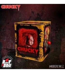 La Fiancée de Chucky boite à musique Diable en boîte Burst-A-Box Scarred Chucky 36 cm