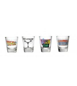 Retour vers le Futur Set 4 verres à liqueur Logo & Symbols