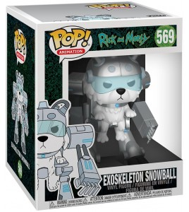 Figurine Pop Rick et Morty - Pop Vinyl 569 Exoskeleton Snowball 15 cm