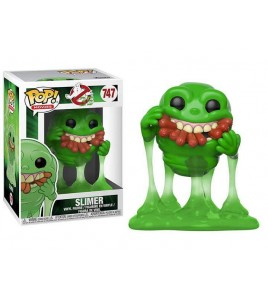 Figurine Pop SOS Fantômes - Pop Vinyl 747 Slimer & Hot Dogs 9 cm