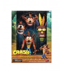 Crash Bandicoot figurine Ultra Deluxe Crash with Aku Aku Mask 14 cm