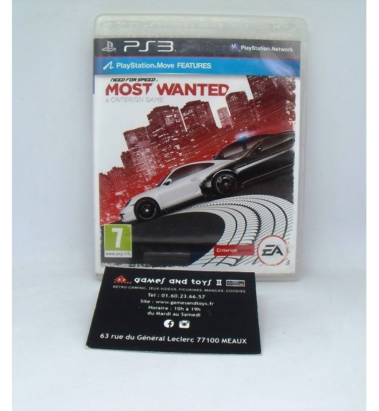 Need For Speed : Most Wanted sur Playstation 3 PS3 sans Notice