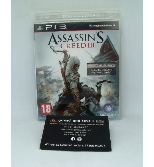 Assassin's Creed 3 sur Playstation 3 PS3  avec Notice