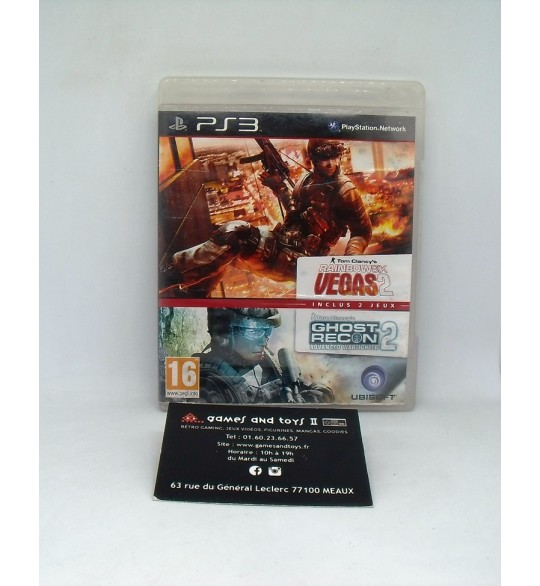 Rainbow Six Vegas 2 + Ghost Recon : Advanced Warfighter 2 sur PS3  avec Notice