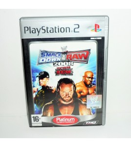 WWE Smackdown VS Raw 2008 Platinum sur Playstation 2 PS2 avec Notice MA09