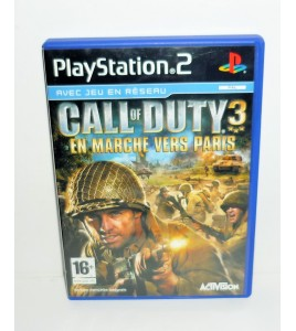 Call of Duty 3 : En marche vers Paris sur Playstation 2 PS2 avec Notice MA18