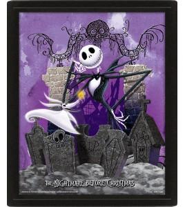 L´étrange Noël de Mr. Jack pack posters effet 3D encadré Graveyard 26 x 20 cm
