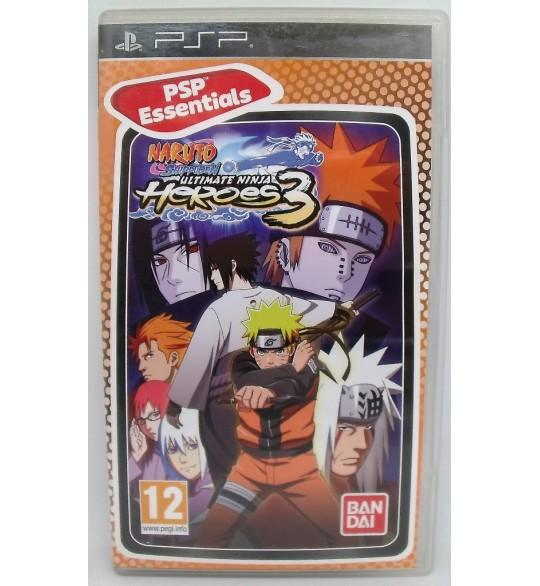Naruto Shippuden : ultimate Ninja heroes 3  Version Essentials sur PSP avec Notice