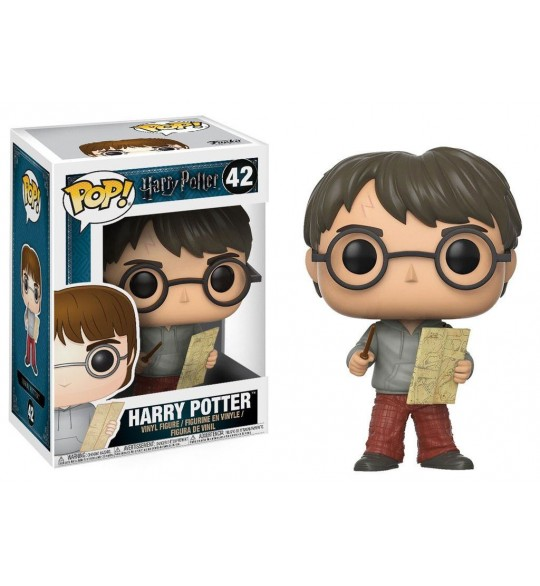 Harry Potter- Pop Vinyl 42 Harry Potter with Marauders Map 9 cm