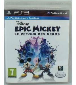 Disney Epic Mickey : le retour des Héros  sur Playstation 3 PS3 avec Notice