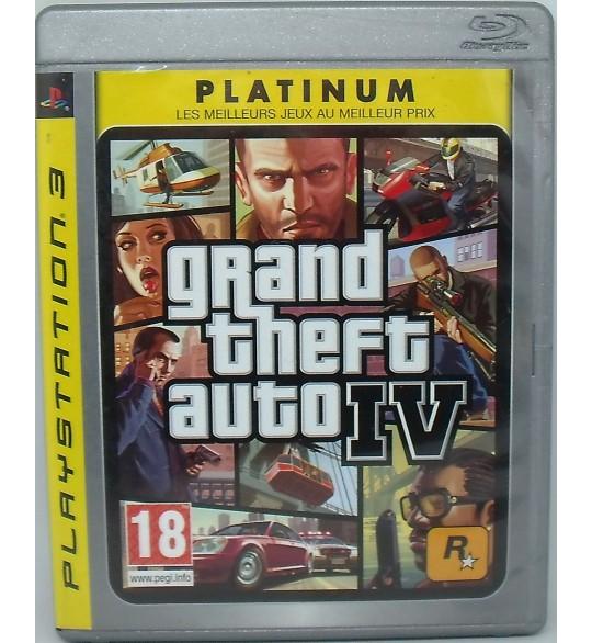 GTA IV Grand Theft Auto 4 sur Playstation 3 PS3 avec Notice  et Carte