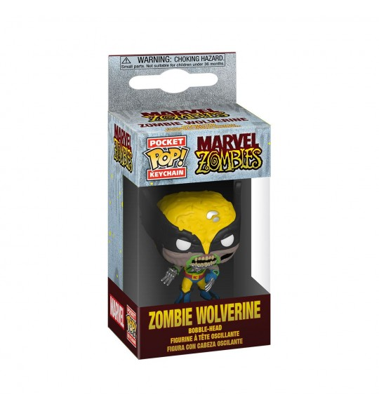 Marvel porte-clés Pocket POP! Vinyl Zombie Wolverine 4 cm