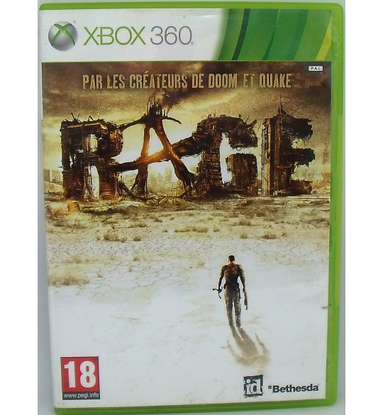 Rage sur XBOX 360 avec Notice Games and Toys