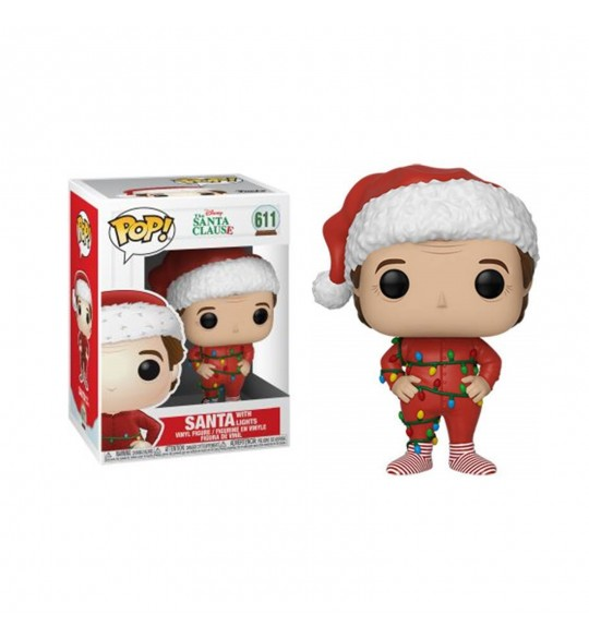 Super Noël Pop Vinyl 611 Santa w/Lights 9 cm